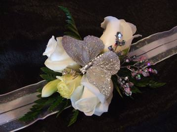 Prom night wrist corsage