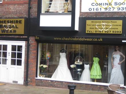 Cheshire Bridal Wear Ltd Altrincham Greater Manchester Outside Of Shop